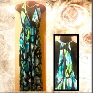 Blue / Black Maxi Dress